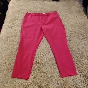 Bright pink Vineyard Vines cropped pants